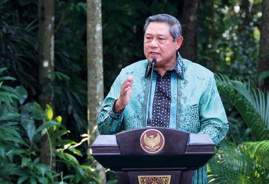 Indonesian President Susilo Bambang Yudhoyono at CIFOR in Bogor, Indonesia (Photo by Dita Alangkara/CIFOR)